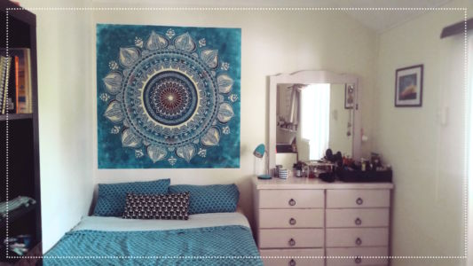 Blue Mandala by mural artist Kat Smirnoff_Kat's Mural Art