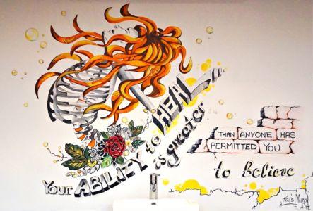 Mural at Bonfire Chiropractic