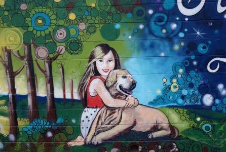 Girl With A Dog_Kats Mural Art_Kat Smirnoff