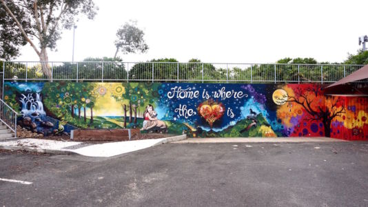 Home Is Where The Heart Is_Carpark Mural_Kats Mural Art_Kat Smirnoff