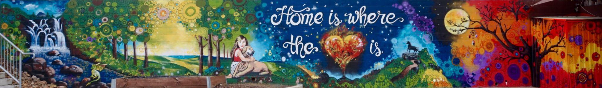 Home is where the heart is_Jindalee Mural_Kat's Mural Art_Kat Smirnoff