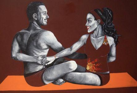 Bonfire Yoga Mural Infinity Pose_Kat Smirnoff_Kat's Mural Art