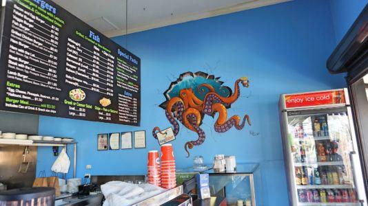 Kingfisher Seafood Cafe Octopus by Kat Smirnoff_Kat's Mural Art