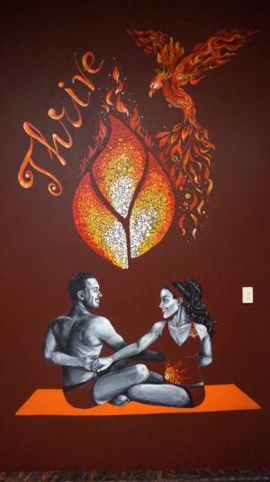 Thrive Bonfire Yoga Mural_Kat Smirnoff