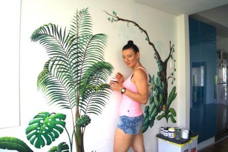 Tropical Dream mural_Kat Smirnoff_Kat's Mural Art