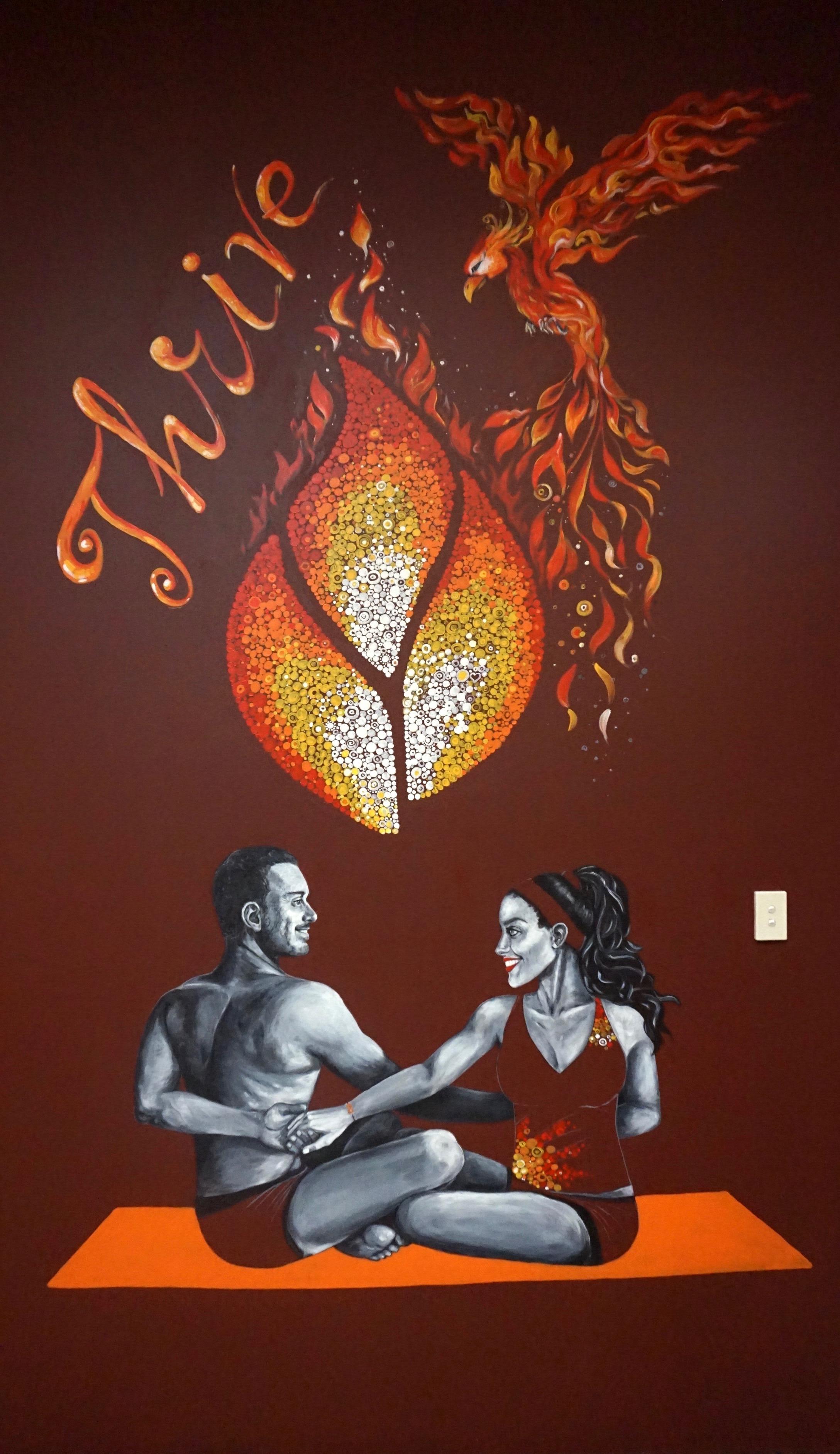 Bonfire Thrive - Kat's Mural Art